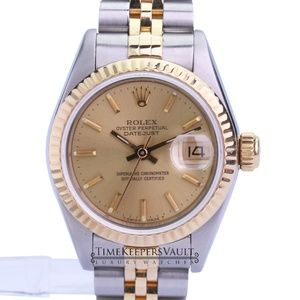 Rolex Lady Datejust Champagne Dial 26mm Watch